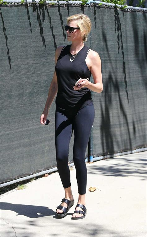 Charlize Theron in a Black Workout Clothes Was Seen Out in