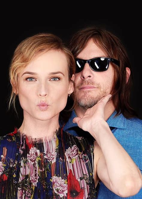 Diane Kruger and Norman Reedus photographed by Jon Premosch for Buzzfeed